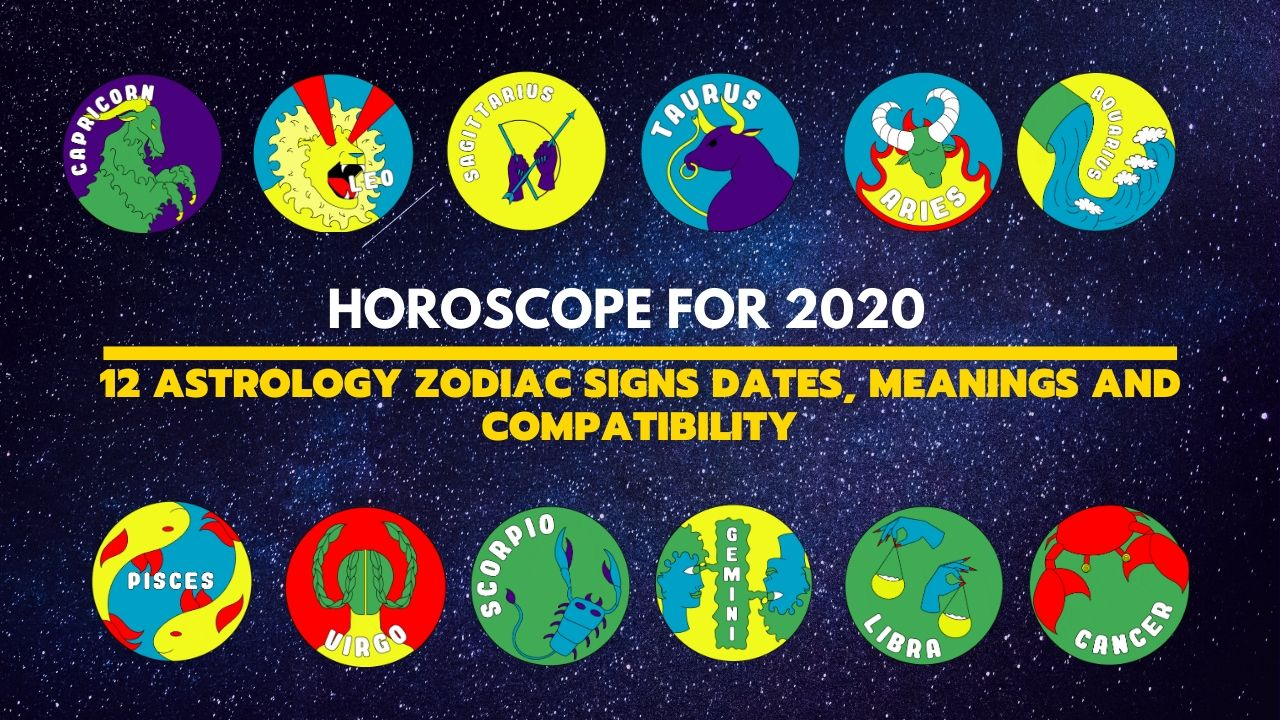 12 Astrology Zodiac Signs Dates Meanings And Compatibility